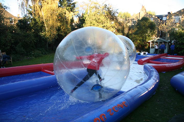 Chicane Zorb Track in use